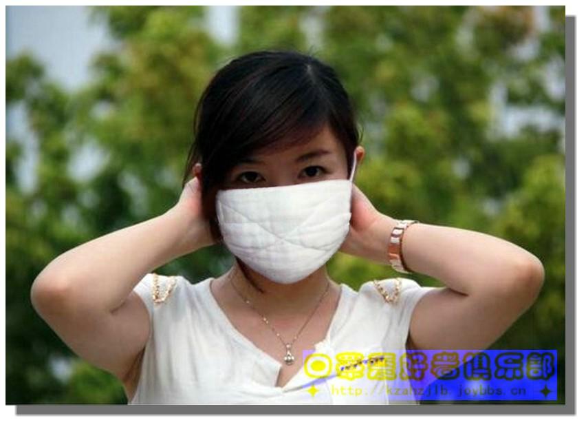 戴纱布口罩的女子-2