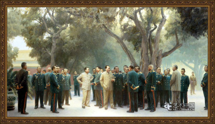 油画:毛主席和他的将帅们