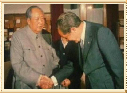 毛主席会见美总统尼克松