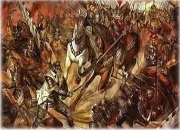 绘画:大战天竺