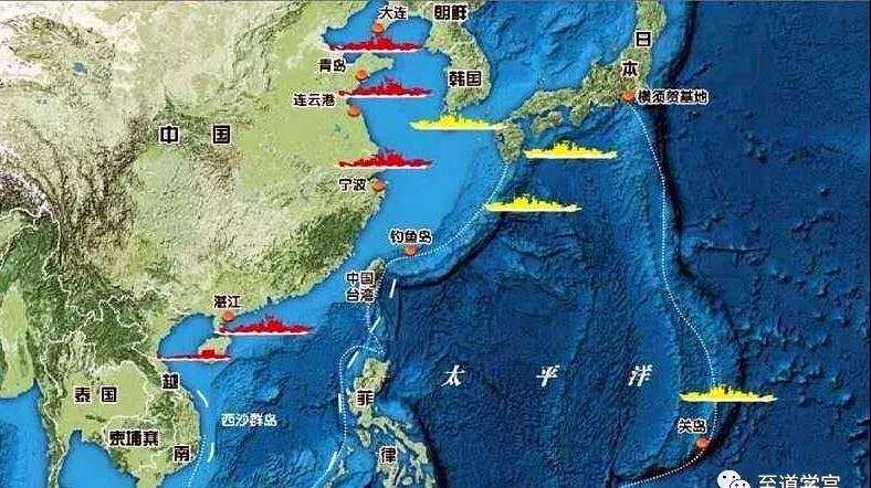 美国围堵中国的第一岛链