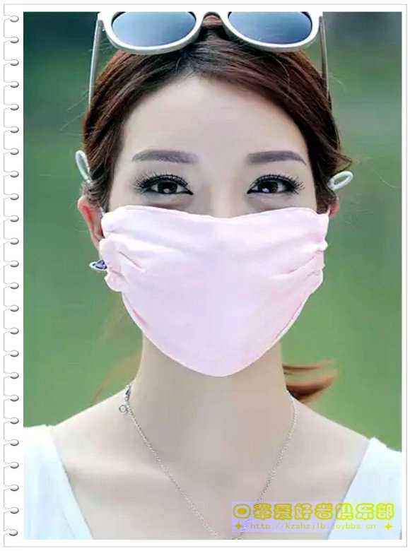 广告模特-真丝口罩 - 2