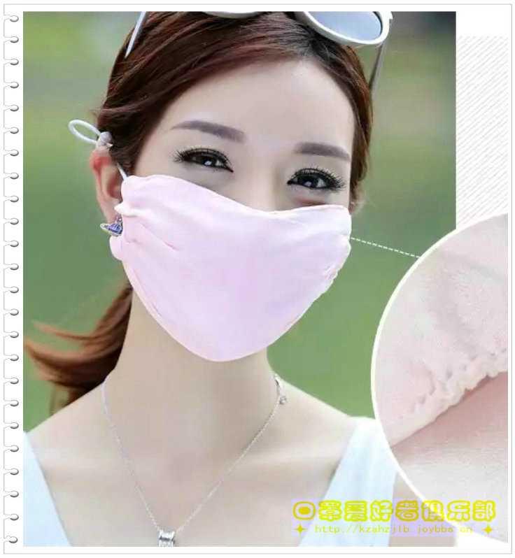 广告模特-真丝口罩 - 1