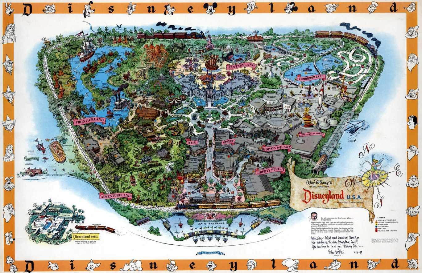 迪斯尼乐园手绘地图(1958年)