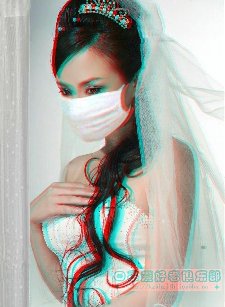 【原创】戴婚纱的美女