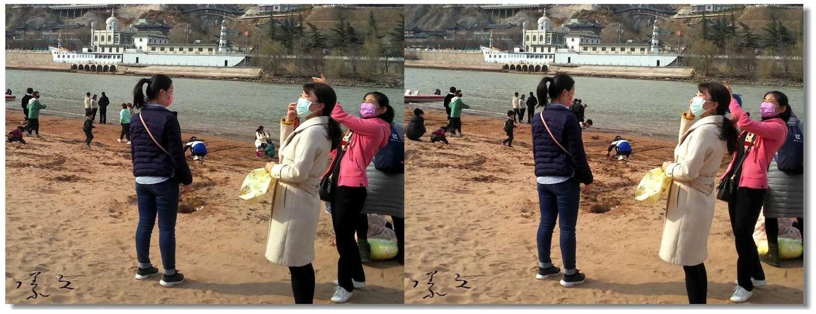 【原创】河边放风筝的女子 -2