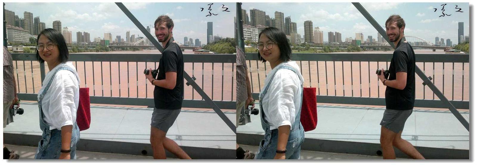 【原创】铁桥上的外国游客 -2
