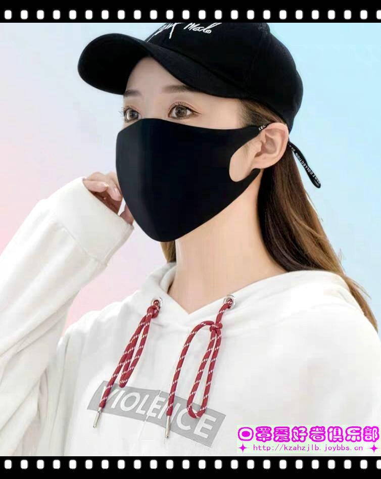 美女戴黑色防霾口罩 -4