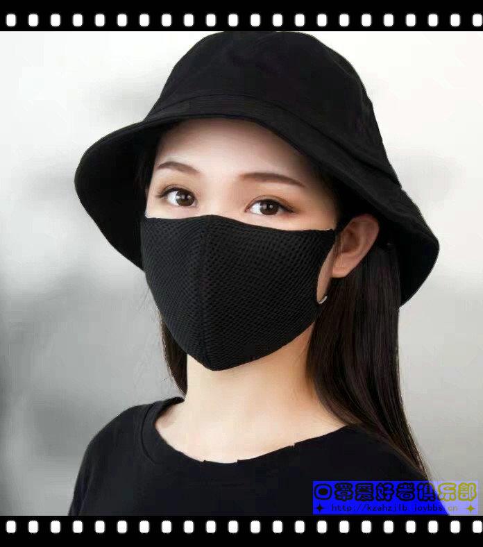 美女戴黑色防霾口罩 -2