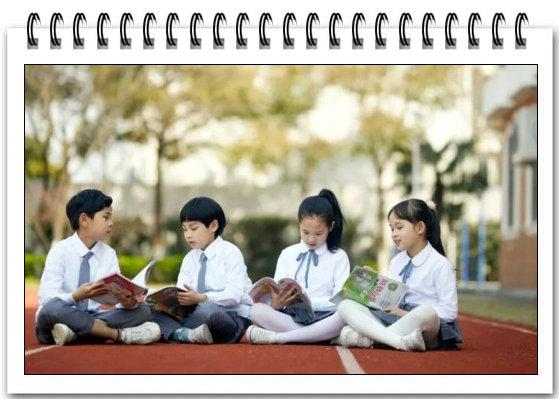 图3、读书的学生