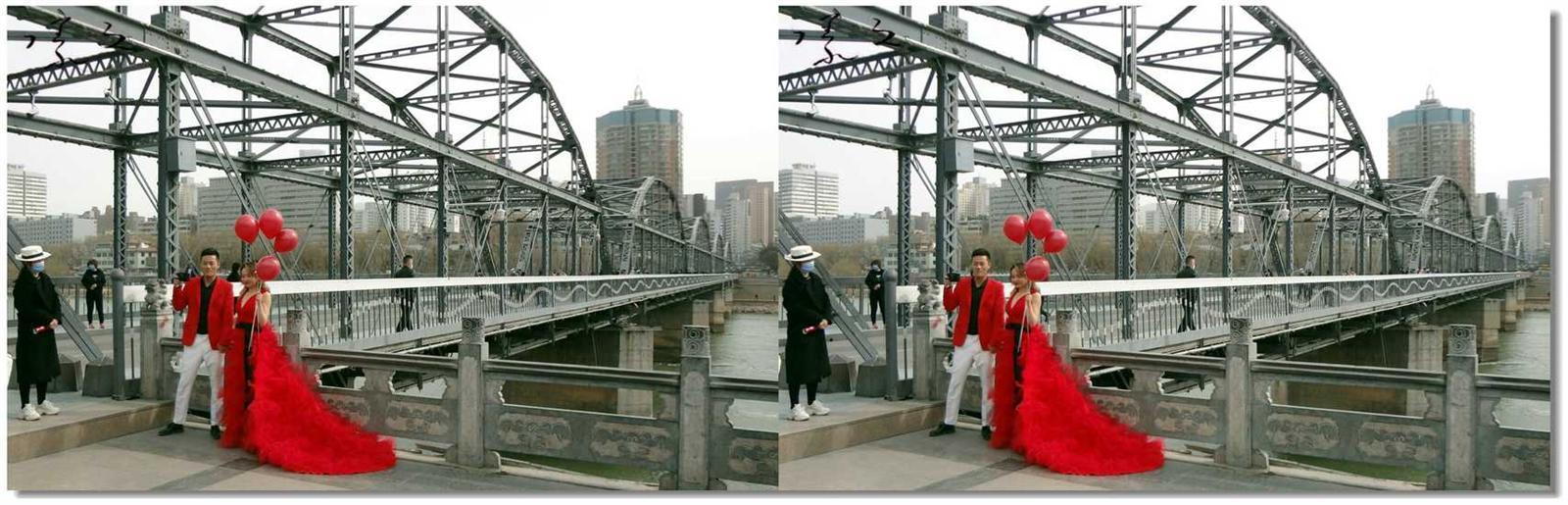 【原创】黄河桥头婚纱照 -3