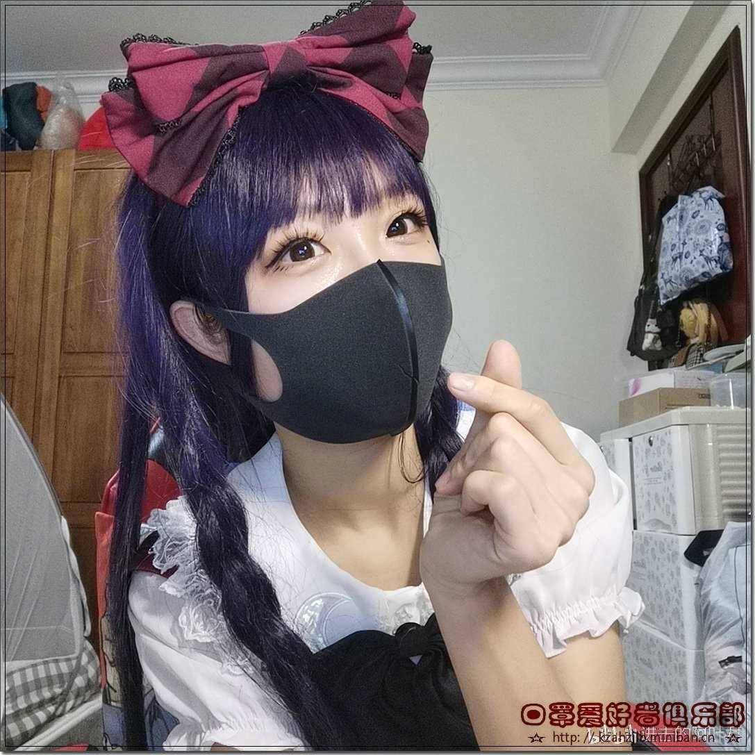 女主播秀口罩  -1