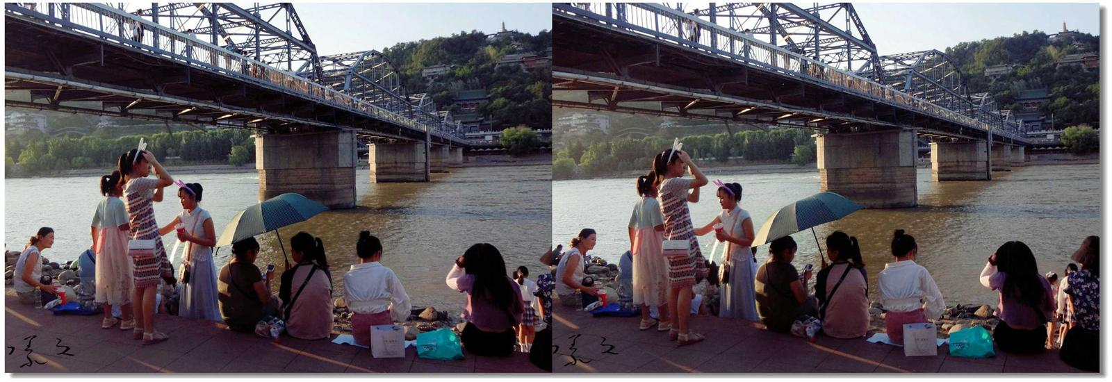 【原创】黄河铁桥下的风景 -1