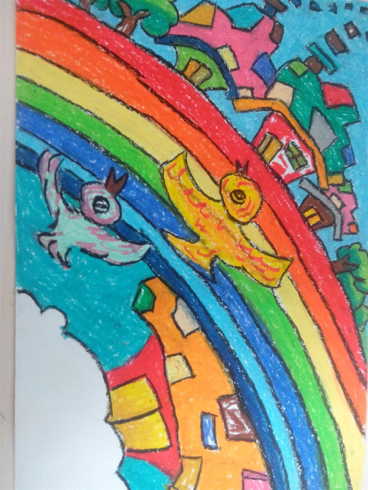 蜡笔画 - 其它童画作品 - 山西少儿美术